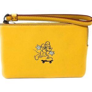 Coach x Mickey Mouse Wristlet Wallet
